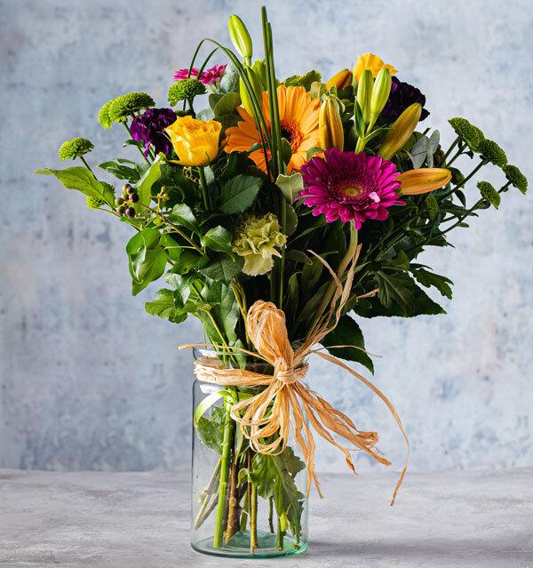 colourful bouquet flower delivery Dublin