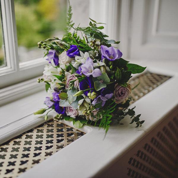 purple wedding flower flower delivery Dublin