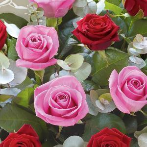 red roses pink as well flower delivery Dublin